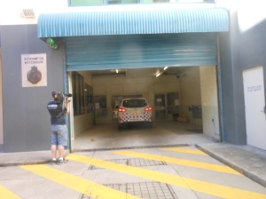 Greg and Graeme arrive at Rockhampton Police Station